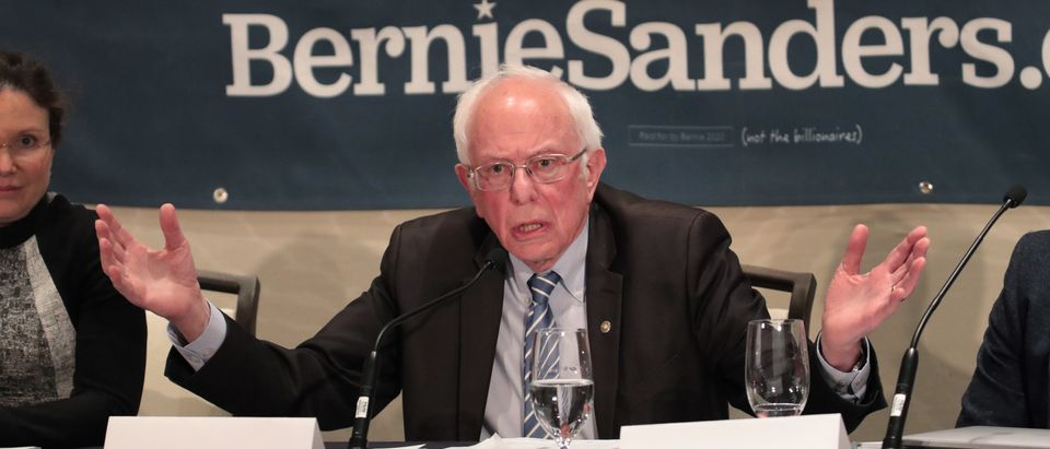 Democratic presidential candidate Sen. Bernie Sanders (I-VT) participates in a coronavirus public health roundtable with healthcare professionals as he continues his campaign swing through the Midwest on March 09, 2020 in Detroit, Michigan. (Scott Olson/Getty Images)