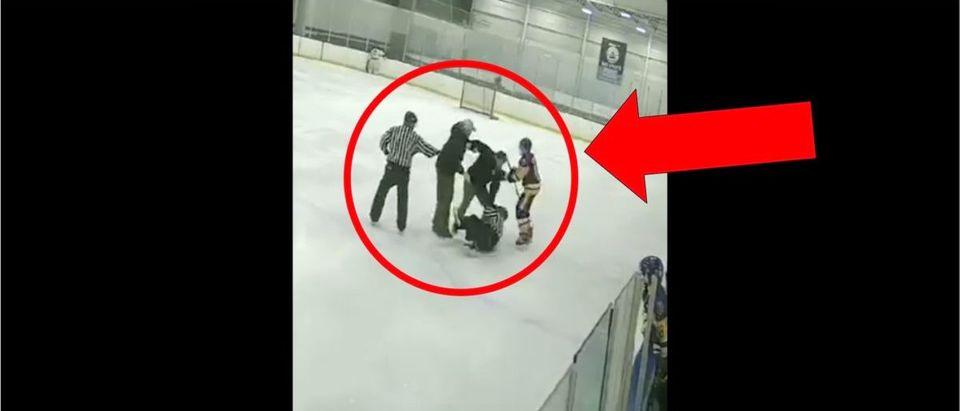 Hockey Fight Video (Credit: Screenshot/Twitter Video https://twitter.com/barstoolsports/status/1236675173211934720)