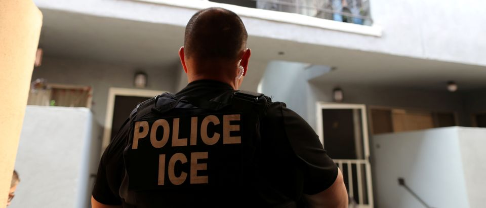 ICE Field Office Director, Enforcement and Removal Operations, David Marin and U.S. Immigration and Customs Enforcement's (ICE) Fugitive Operations team search for a Mexican national at a home in Hawthorne