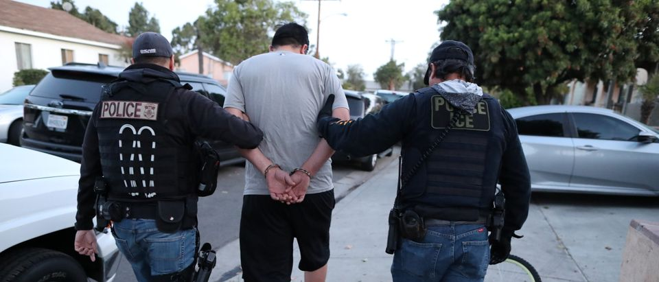 ICE Field Office Director, Enforcement and Removal Operations, David Marin and U.S. Immigration and Customs Enforcement's (ICE) Fugitive Operations team arrest a Mexican national at a home in Paramount