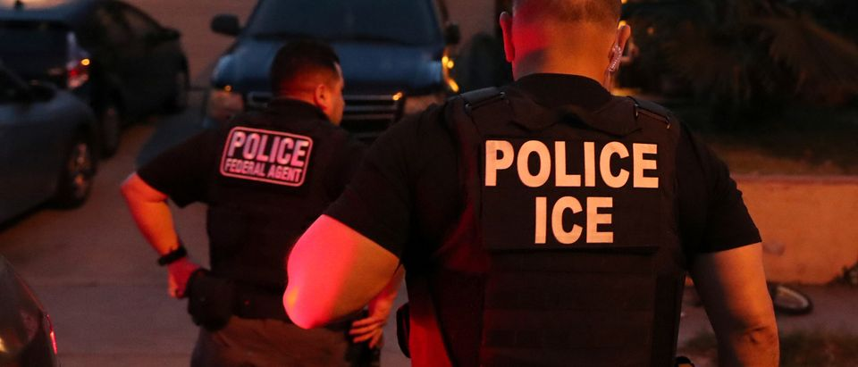 ICE Field Office Director, Enforcement and Removal Operations, David Marin and U.S. Immigration and Customs Enforcement's (ICE) Fugitive Operations team arrive to arrest a Mexican national at a home in Paramount