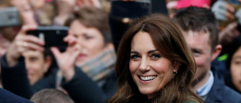 Britain's Catherine, Duchess of Cambridge, reacts as she leaves the Tig Coili pub in Galway, Ireland, March 5, 2020. REUTERS/Phil Noble