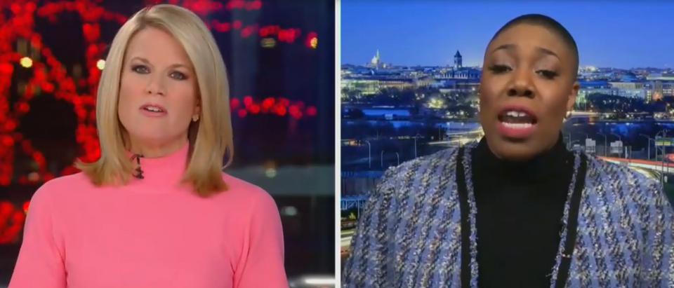 Martha MacCallum discusses origin of Chinese coronavirus with Symone Sanders (Fox News screengrab)