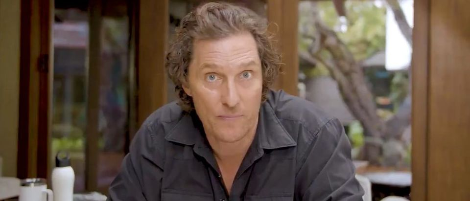 Matthew McConaughey (Credit: Screenshot/Twitter Video https://twitter.com/McConaughey/status/1240026783975530501)