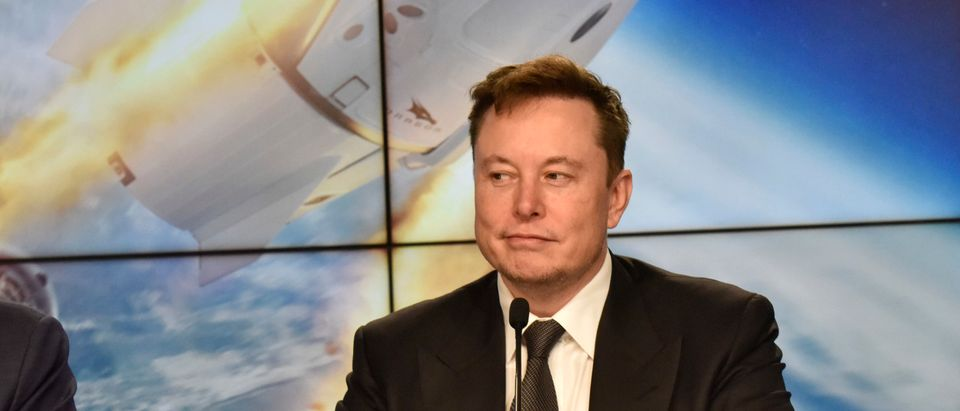 SpaceX founder and chief engineer Elon Musk attends a post-launch news conference to discuss the SpaceX Crew Dragon astronaut capsule in-flight abort test at the Kennedy Space Center