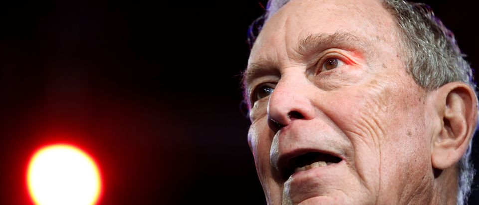 FILE PHOTO: Democratic U.S. presidential candidate Michael Bloomberg appears at his Super Tuesday night rally in West Palm Beach