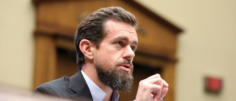 FILE PHOTO: Twitter CEO Jack Dorsey testifies before the House Energy and Commerce Committee hearing on Capitol Hill in Washington