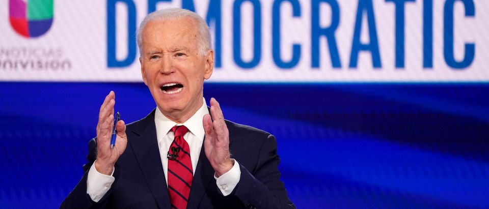 Democratic U.S. presidential candidate and former Vice President Joe Biden speaks at the 11th Democratic candidates debate of the 2020 U.S. presidential campaign in Washington