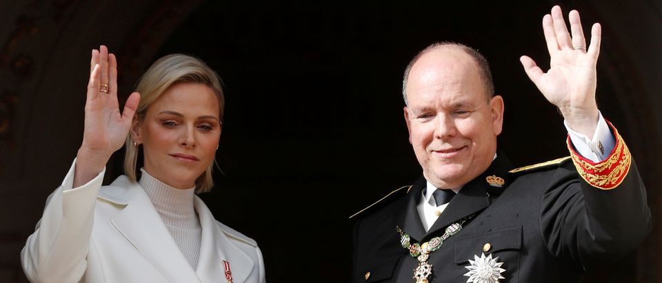 Prince Albert II and his wife, Princess Charlene. (Reuters/Eric Gaillard)