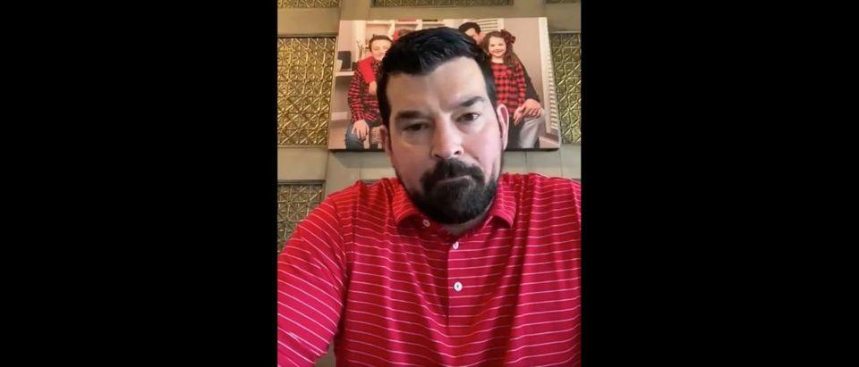 Ryan Day (Credit: Screenshot/Twitter Video https://twitter.com/ryandaytime/status/1241773549137821696)