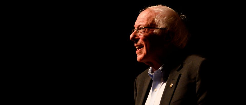 Democratic presidential candidate Senator Bernie Sanders (I-VT) speaks during a campaign stop in Ames, IA on January 25, 2020. - Sanders flew to Iowa this afternoon after wrapping up impeachment proceedings in Washington DC. (Photo by STEPHEN MATUREN / AFP) (Photo by STEPHEN MATUREN/AFP via Getty Images)