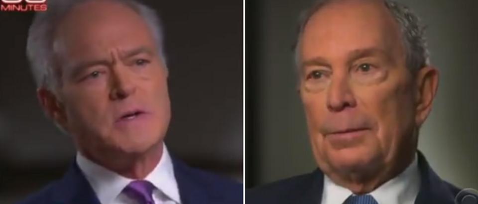 Scott Pelley fact checks Mike Bloomberg (CBS screengrab)