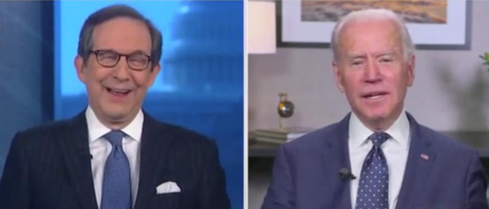 "Joe Biden called Chris Wallace ""Chuck"" after the journalist asked about his mental fitness for office. (Screenshot Fox News, Fox News Sunday)"