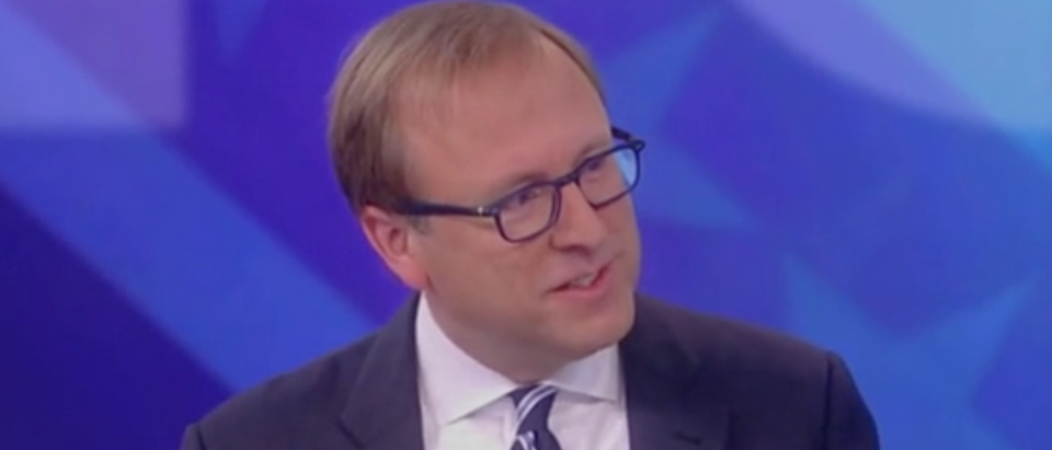 "Jonathan Karl appears on ""The View."" Screen Shot/ABC"