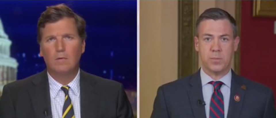 Tucker Carlson and Rep. Jim Banks discuss coronavirus response. Screenshot/Fox News