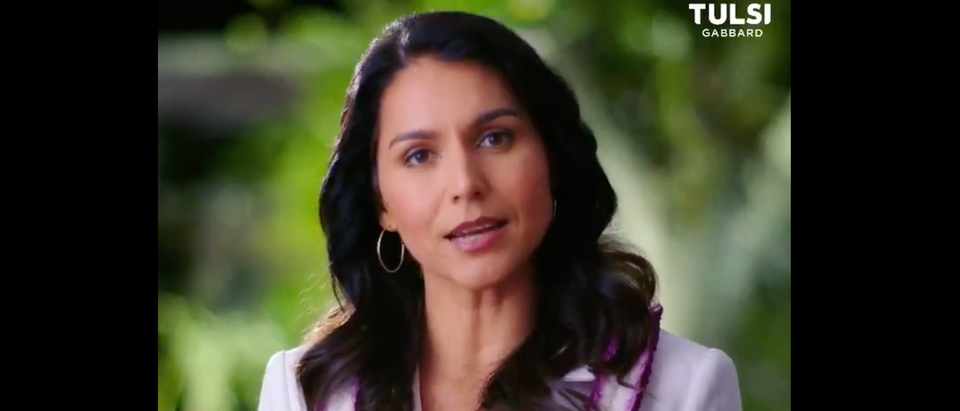 Tulsi Gabbard suspended her presidential campaign and endorsed Joe Biden Thursday. (Screenshot Twitter Tulsi Gabbard)