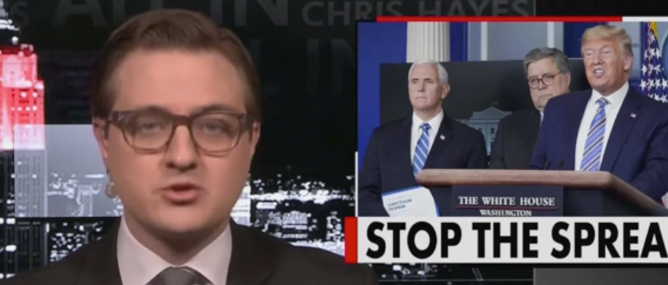 MSNBC retracted a tweet that incorrectly quoted host Chris Hayes. (Screenshot MSNBC)