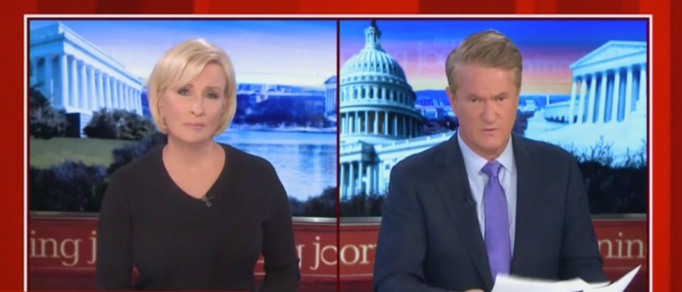 """Morning Joe"" was confused about a false ad attacking President Donald Trump. (Screenshot MSNBC Morning Joe)"
