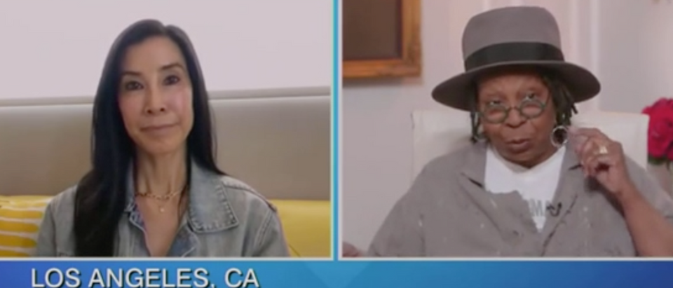 "Lisa Ling appears on ""The View"" with Whoopi Goldberg. Screenshot/ABC"