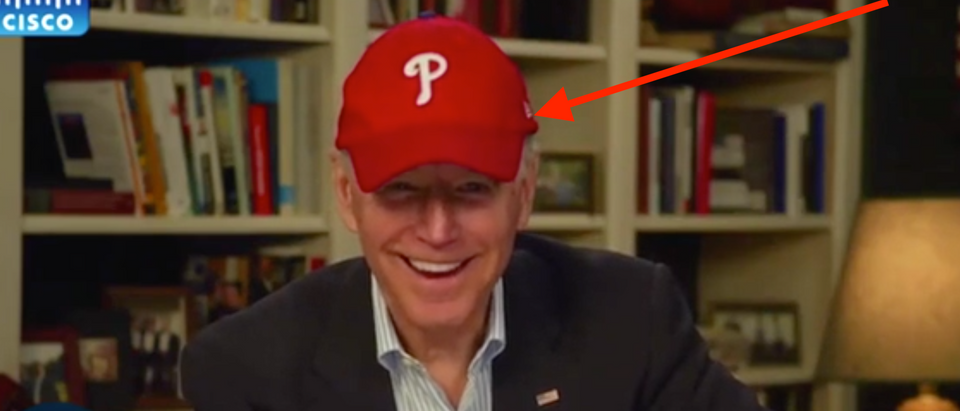 "Joe Biden makes remote appearance on ""Jimmy Kimmel Live!"" Screenshot/ABC"