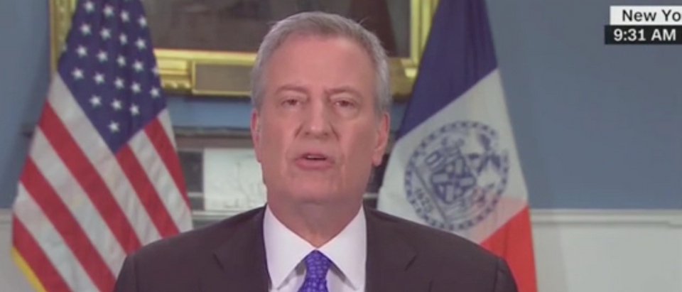 "NYC Mayor Bill de Blasio appears on ""State of the Union."" Screenshot/CNN"