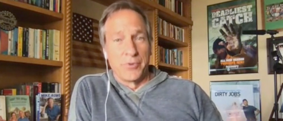 """Mike Rowe appears on """"The Daily Briefing."""" Screenshot/Fox News"""