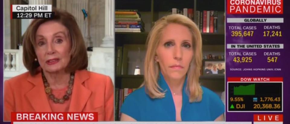 Pelosi lies on CNN