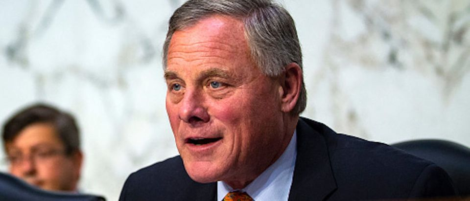 Sen. Richard Burr (R-NC), chairman of the Senate Intelligence Committee, questions retired Vice Adm
