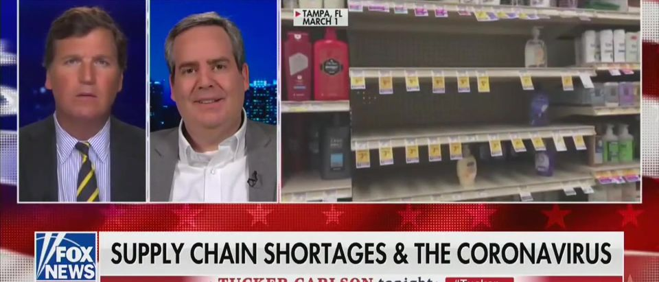 Supply chain expert tells Tucker what Americans should know about shortages (Fox News screengrab)