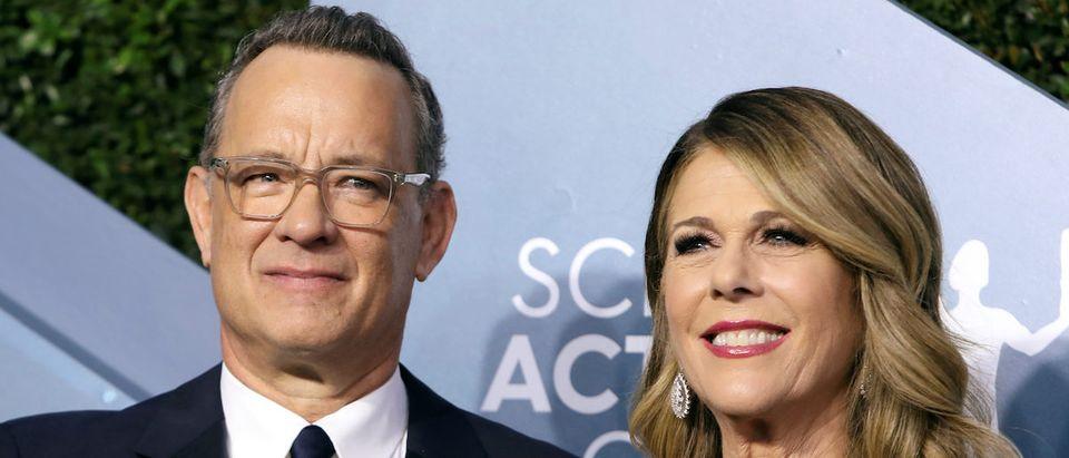 26th Screen Actors Guild Awards Arrivals Los Angeles, California, U.S., January 19, 2020 ñ Tom Hanks and Rita Wilson. REUTERS/Monica Almeida/File Photo