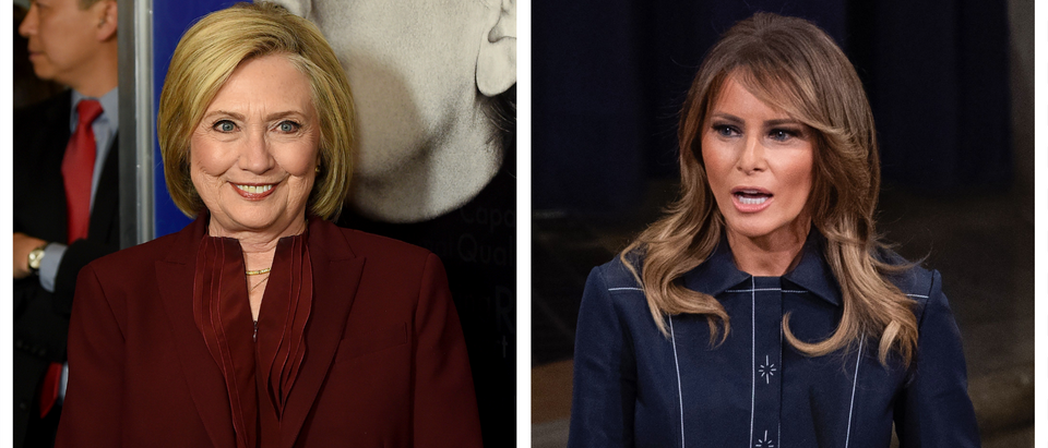 Hillary Clinton, Melania Trump (Getty Images)