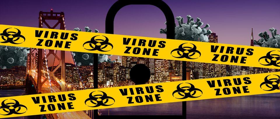 Coronavirus caution tape (Shutterstock)