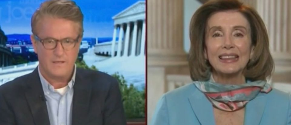 Joe Scarborough and Nancy Pelosi