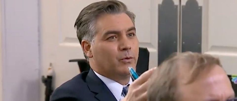 CNN's Jim Acosta at April 3, 2020 White House briefing. (YouTube screen capture)