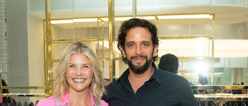 Amanda Kloots and Nick Cordero attend the Beyond Yoga x Amanda Kloots Collaboration Launch Event on August 27, 2019 in New York City. (Photo by Noam Galai/Getty Images for Beyond Yoga)