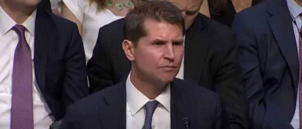 FBI Counterintelligence Chief Bill Priestap at July 1, 2017 Senate Intelligence Committee hearing. (Youtube screen capture)