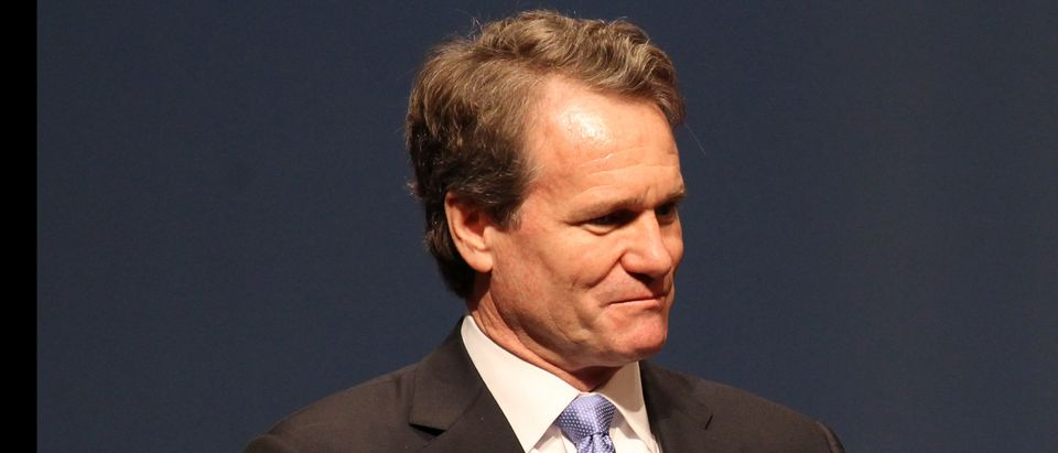 Bank of America CEO Moynihan speaks during the White House summit on cybersecurity and consumer protection in Palo Alto