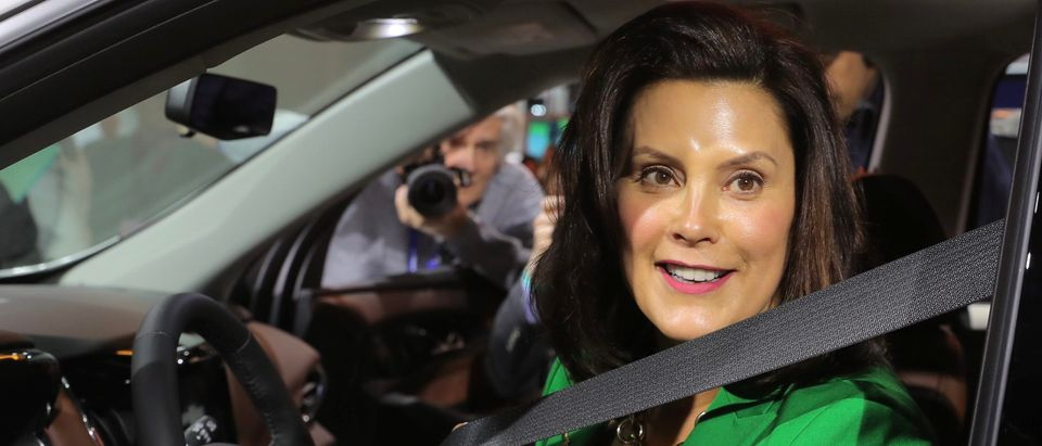FILE PHOTO: Michigan Governor Whitmer visits the North American International Auto Show in Detroit, Michigan