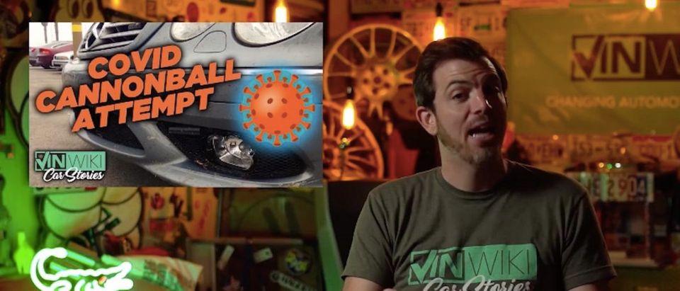 Cannonball COVID-19 Run (Photo: YouTube Screenshot)