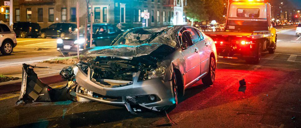 Car Crash. Shutterstock
