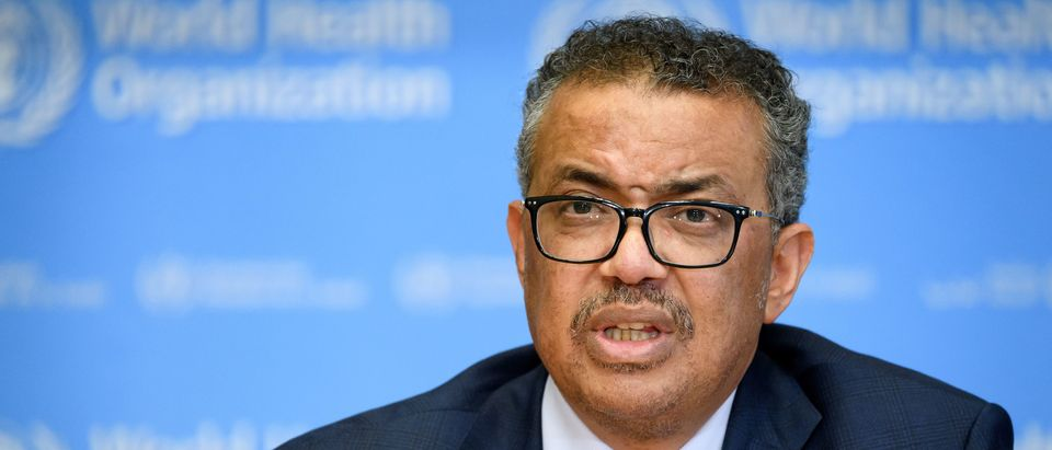 World Health Organization (WHO) Director-General Tedros Adhanom Ghebreyesus attends a daily press briefing on COVID-19 virus at the WHO headquaters on March 6, 2020, in Geneva. (FABRICE COFFRINI/AFP via Getty Images)