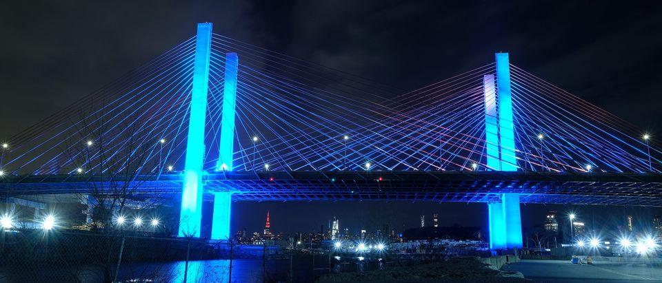 Across U.S., Stadiums, Landmarks Illuminated In Blue To Honor Essential Workers
