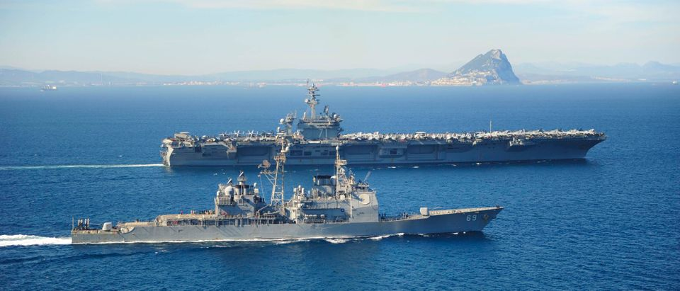 Carrier USS Theodore Roosevelt Conducts Operations In Strait Of Gibraltar