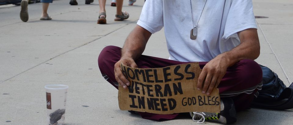 Homeless Veteran. Shutterstock
