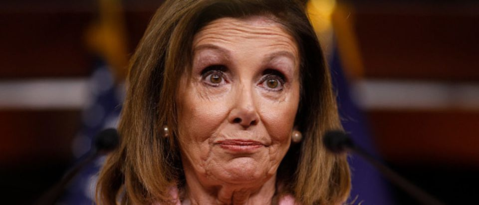House Speaker Nancy Pelosi (D-CA) delivers remarks duringher weekly news conference on Capitol Hill September 12, 2019 in Washington, DC