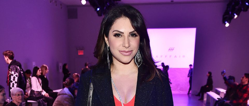 Jennifer Aydin attends the Afffair front row during New York Fashion Week: The Shows at Gallery II at Spring Studios on February 13, 2019 in New York City. (Photo by Theo Wargo/Getty Images for Afffair)