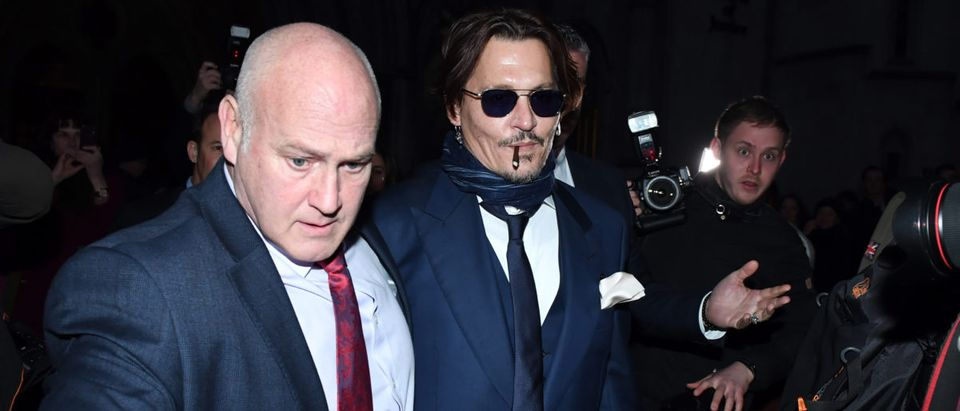 Johnny Depp Appears At The High Court In London