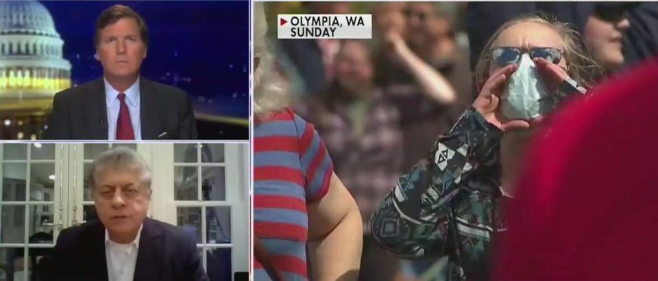 Judge Napolitano discusses civil liberties and state enforce social distancing measures (Fox News screengrab)