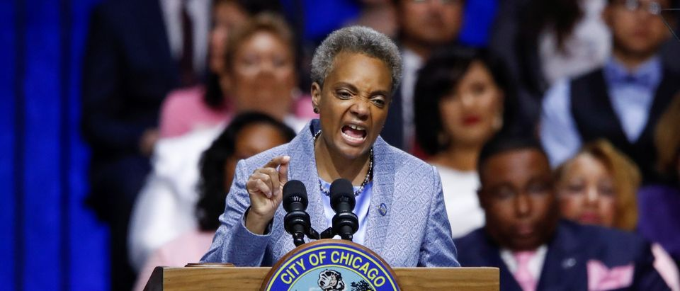 Lori Lightfoot is sworn in as Chicago's 56th Mayor in Chicago