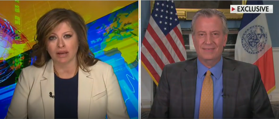 Maria Bartiromo confronts Bill de Blasio on socialism (Fox News screengrab)